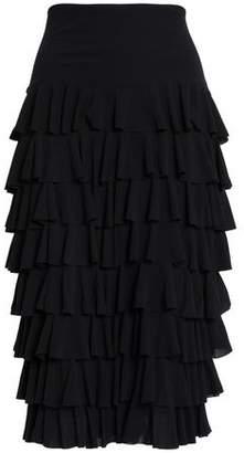 Norma Kamali Tiered Stretch-Jersey Midi Skirt