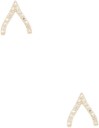 Danni 14K Wishbone Earrings
