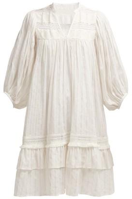 Binetti Love Tiered Eyelet Cotton Mini Dress - Womens - White