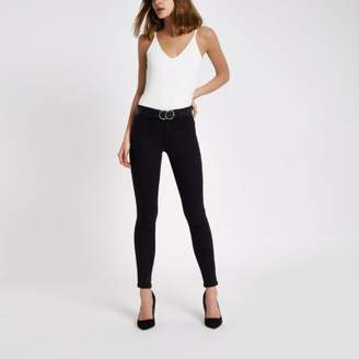 River Island Womens Black Molly reform jeggings