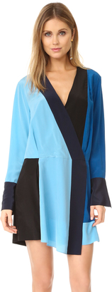 Diane von Furstenberg Long Sleeve Crossover Dress $348 thestylecure.com