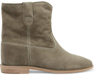 Isabel Marant étoile Crisi Suede Ankle Boots - Gray green