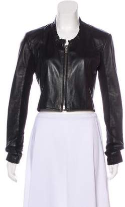 Veda Leather Cropped Jacket