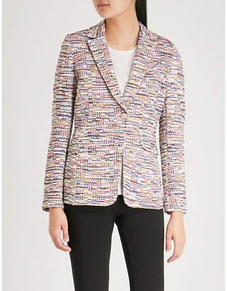 St. John Multi tweed fringe knitted jacket