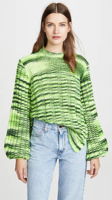 Ganni Neon Melange Knit Sweater