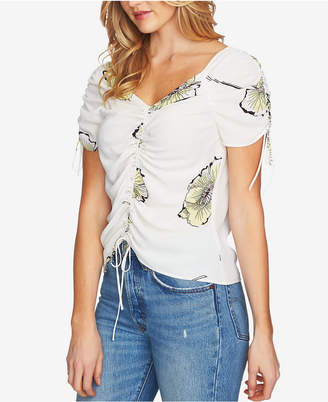 1 STATE 1.state Cinch-Tie Printed Top