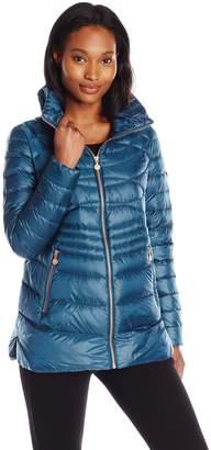 Bernardo Women's Short Packable Goose Down Water Repellent Coat