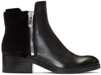 3.1 Phillip Lim Black Suede Alexa Boots