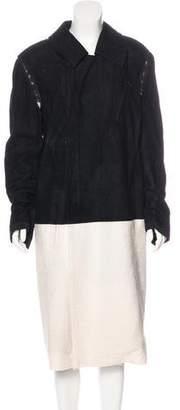 Haider Ackermann Suede-Paneled Wool-Blend Coat