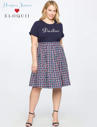 Draper James for ELOQUII Pleated Midi Skirt
