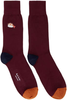 Paul Smith Red Embroidered Sushi Socks