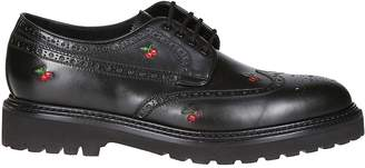 Paul Smith Cherry Embroidered Derby Shoes