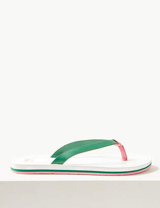Marks and Spencer Open Toe Stripe Base Flip-Flops