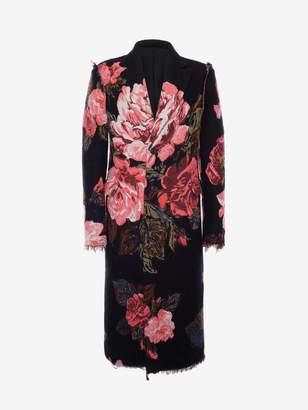 Alexander McQueen Rose Jacquard Coat