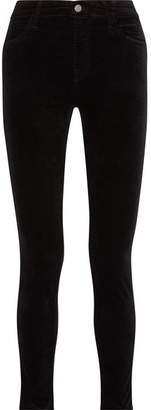 J Brand Maria Cotton-blend Velvet Skinny Pants - Black
