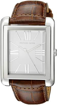 Michael Kors MK2244 Women's Dial Brown Crocodile-Embossed Leather Strap Watch