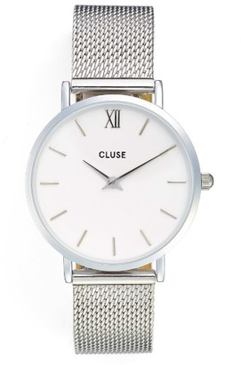Women's Cluse Minuit Mesh Strap Watch, 33Mm $99 thestylecure.com