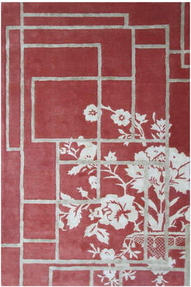 The Rug Market Sussey Hand-Made Wool & Silk Contemporary Rug