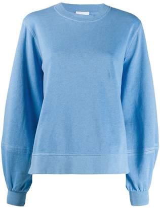Ganni bell sleeve sweatshirt