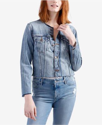 Lucky Brand Cotton Raw Edge Trucker Jacket