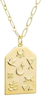 Lulu DK x We Wore What Large Symbol Pendant Necklace, 20