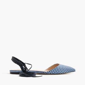 Slingback flats in gingham $178 thestylecure.com