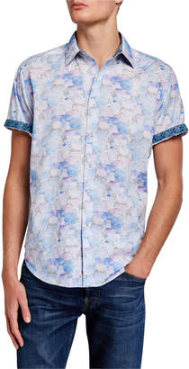Robert Graham Men's Benbow Short-Sleeve Patterned Sport Shirt