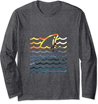 Shark Wave Surf Long Sleeve T Shirt Summer Inspired Apparel