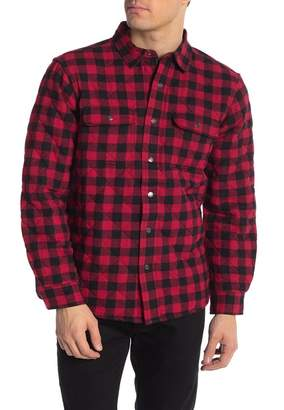 Tailor Vintage Plaid Quilted Reversible Woven Shirt Jackets