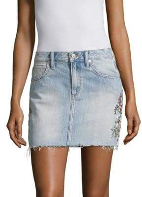 Tularosa Aubrey Denim Mini Skirt