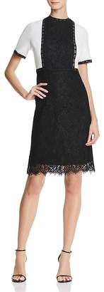 Nanette Lepore nanette Color-Block Lace Dress