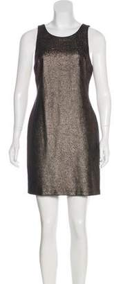 Halston Metallic Mini Dress w/ Tags