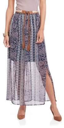 Faded Glory Women's Peasant Maxi Skirt