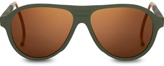 TRAVELER Zion Matte Rilfe Green | Gold Mirrored Lens
