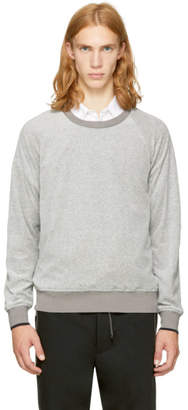 3.1 Phillip Lim Grey Velour Sweatshirt