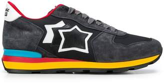 Atlantic Stars rainbow sole lace up trainers