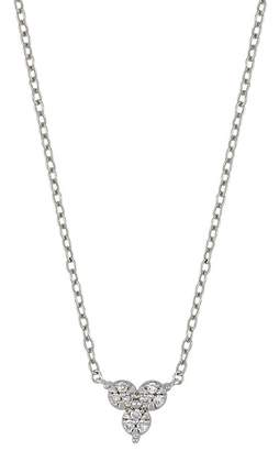 Carriere Sterling Silver Diamond Cluster Pendant Necklace - 0.05 ctw