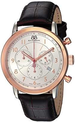 88 Rue du Rhone Men's 'Double 8 Origin' Swiss Quartz Stainless Steel and Leather Dress Watch