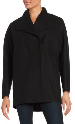 JONES NEW YORK Wool-Blend Oversized Collar Coat $250 thestylecure.com