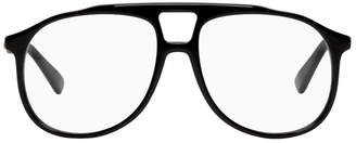 Gucci Black Pilot Frame Glasses