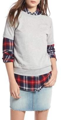 Treasure & Bond Short Sleeve Sweatshirt