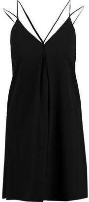Alice + Olivia Emy Corded Lace-Paneled Silk-Blend Crepe Mini Dress