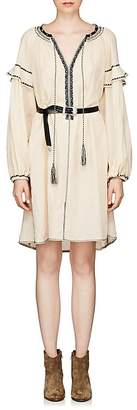 Etoile Isabel Marant Women's Ralya Embroidered Cotton Voile Dress