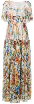 Dolce & Gabbana floral frilled dress