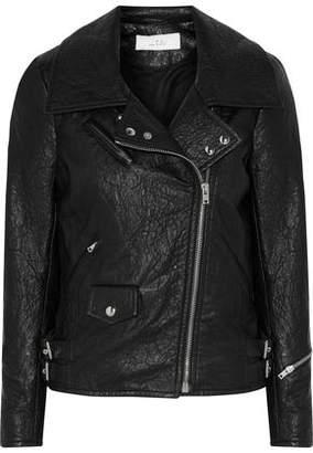 IRO Julyet Faux Textured-Leather Biker Jacket