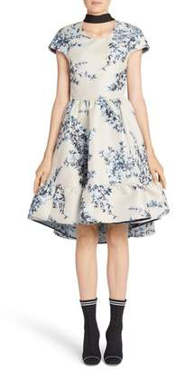 Fendi Floral Ramage Fit & Flare Dress