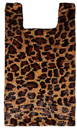 Ashish Leopard Sequin Embellished Cotton Tote - Womens - Leopard