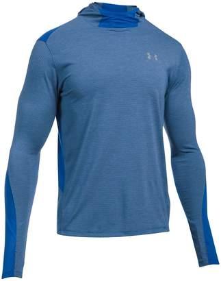 Under Armour Threadborne Run Mesh Long-Sleeve Hooded Shirt - Men's