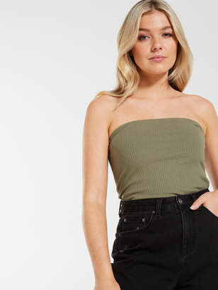 Dotti Strapless Rib Tube Top