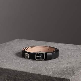 Burberry Crystal Daisy Leather Belt
